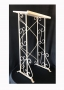 white metal register stand for rent lawrence sunflower rental topeka blue springs kansas missouri