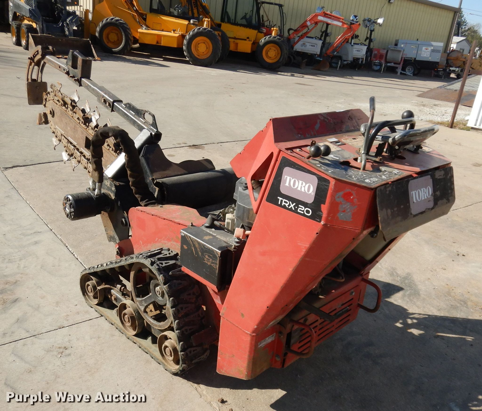 Toro TRX20 trencher for sale or rent sunflower equipment rentals topeka lawrence kansas blue springs missouri