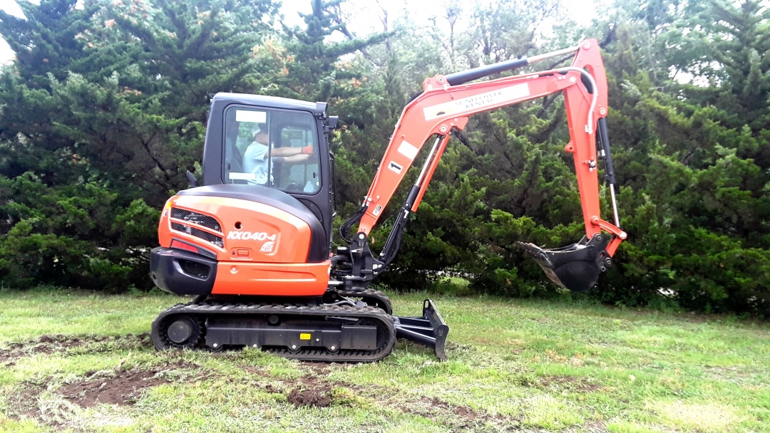 Kubota KX040 for rent sunflower equipment rental topeka lawrence blue spring kansas missouri