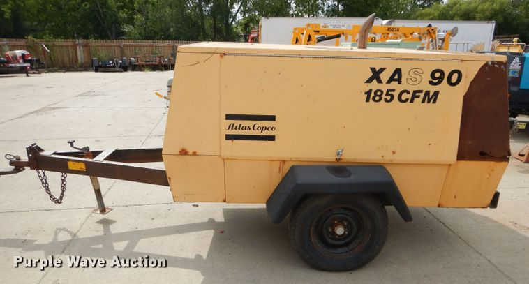 Atlas Copco XAS90JD Air Compressor for sale or rent sunflower equipment rentals topeka lawrence kansas blue springs missouri